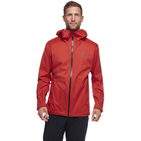Black Diamond Stormline Stretch Rain Shell Jacket Herre red rock